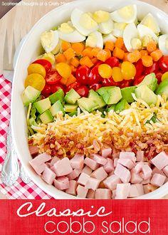 cobb salad how to make a cobb salad more recipe salad cobb salad salad ...