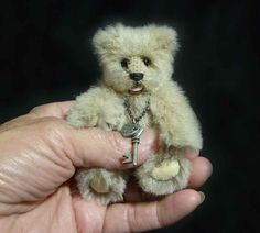 4 Inch Devon, OOAK Artist Miniature Alpaca Teddy Bear by Custom Teddys. $75.00, via Etsy. #handmade