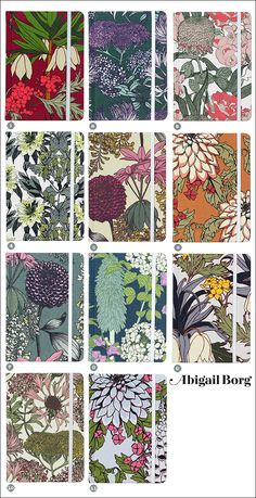 Abigail Borgs Notebooks Come To My Garden Art PatternsFabric PatternsFloral