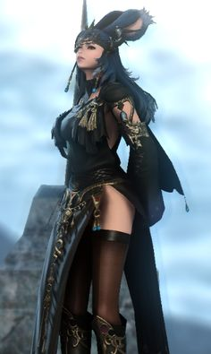Final Fantasy Girls, Final Fantasy Artwork, Final Fantasy Characters, Final Fantasy Xiv, Beautiful Fantasy Art, Dark Fantasy Art, Lolita Cosplay, Cosplay Girls, Ffxiv Character