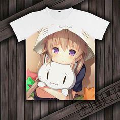Animation Aokana: Four Rhythm Across the Blue Cosplay Kawaii white T-Shirt #Unbranded #ShortSleeve