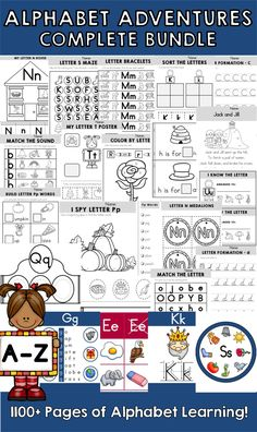 Alphabet Adventures >> Over 1100 pages of interactive and fun letter activities for both uppercase and lowercase letters of the alphabet!