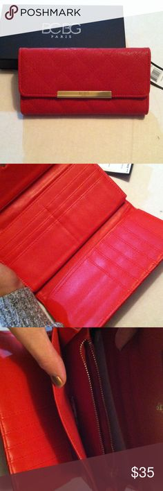 NWT BCBG Paris Clutch Brand new BCBG Paris Clutch, red with gold detail, absolutely flawless and amazingly elegant, still in box with tags has never been used BCBG Bags Clutches & Wristlets