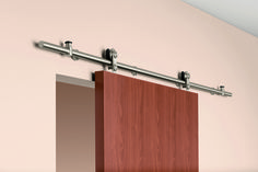 Perfect for offices, hotel rooms and multi-family units. Stainless Steel Sliding Track Hardware System is available with ten styles of door hangers and three finishes to complement any decor. http://www.pemko.com/assets/literature/documents/80062_PEMKO_Sliding_Track_Hardware%20Brochure_5.27.14.pdf