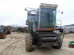 Gleaner M combine salvaged for used parts. This unit is available at All States Ag Parts in Downing, WI. Call 877-530-1010 parts. Unit ID#: EQ-25315. The photo depicts the equipment in the condition it arrived at our salvage yard. Parts shown may or may not still be available. http://www.TractorPartsASAP.com