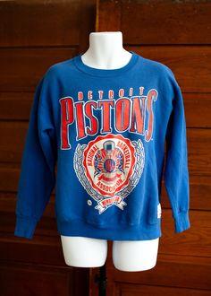 Vintage Detroit Pistons Sweatshirt - L by GreatWhiteVintage on Etsy https://www.etsy.com/listing/209042028/vintage-detroit-pistons-sweatshirt-l