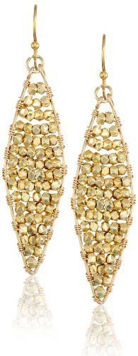 """Wendy Mink """"Treasured"""" Diamond Nugget Earrings Wendy Mink. $102.99. Vermeil diamond shape filled with vermeil nuggets. Do not expose to moisture. Wrapped with vermeil wire and vermeil ear wires. Made in United States. Proudly hand-made in Tribeca New York. Save 54%!"""