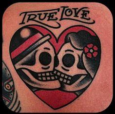 True love tattoo by Gonzalo MM #tat #tattoo #tatu #tatuaje #truelove
