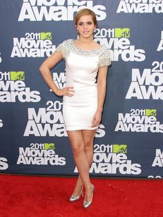 Emma Watson at the 2011 MTV Movie Awards in Marchesa and Brian Atwood