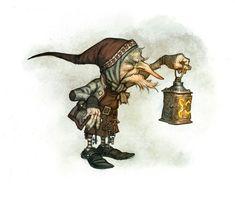 "m Gnome npc lantern johan egerkrans | by Johan Egerkrans for his book ""Nordiska Väsen"""