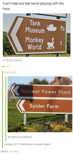Learn to laugh again. Coming 2017 tank monkeys can nuclear spiders Really Funny, The Funny, Super Funny, Haha, Funny Quotes, Funny Memes, Puns Hilarious, Food Quotes, Funny Tumblr Posts