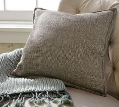 Metallic Tweed Pillow Cover | Pottery Barn