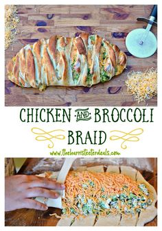 Try this Chicken and Broccoli Braid! Super easy and a crowd pleasing dish.