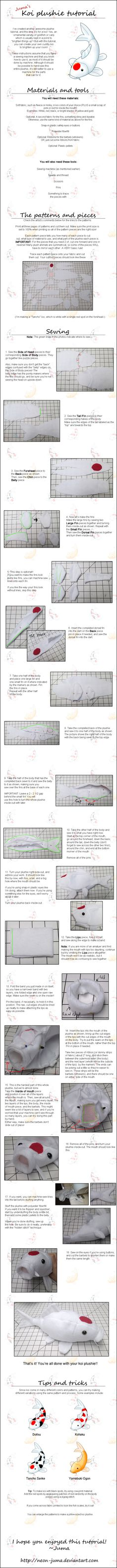 Koi plushie tutorial by Neon-Juma on DeviantArt