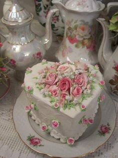 (B Still My Heart) Fake Cake Faux Food Rose Decorated