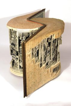 Awesome Book Carvings by Brian Dettmer – I.D. 16