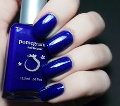 ChrissyAi: Pomegranate Nail Lacquer - Blue Screen of Death