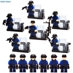 6pcs/lot SWAT Military Riot Special Weapons and Tactics Mini Figure Super Hero Kid Toy Minifigures Brick Compatible with Lego #>=#>=#>=#>=#> Click on the pin to check out discount price, color, size, shipping, etc. Save and like it!