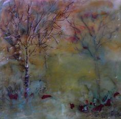 Encaustic #1 Painting by Terry Honstead