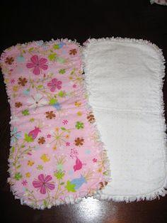 Easy homemade burp cloth