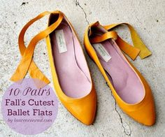 The 10 Cute Ballet Flats for Fall {click to shop}