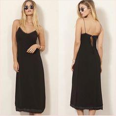 b2b16f8610820 #topshop #Castaway #black #lacedetail #silk #SplitMidiDress Size 6 US 2  Blogger ❤ #Topshop #MidiDress #mididress #dresses #dressescasual  #dressesforwomen
