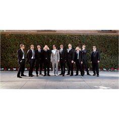 Grey groom black groomsmen