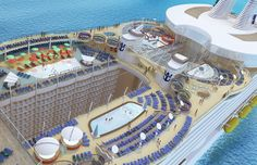 Oasis of the Seas - Pool Deck on the Oasis of the Seas from Royal Caribbean International