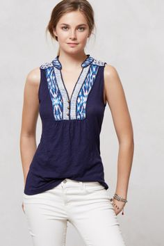 Embroidered Evie Top $58 - Anthropologie.com