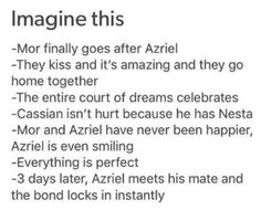 Why would you do this to me!?!?!?!?!??>>>EXCEPT THAT WON'T EVER HAPPEN ANYMORE AFTER ACOWAR