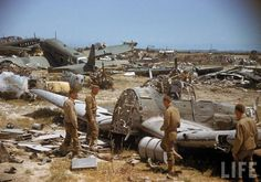 Color photos of Tunisia and Libya in the North African campaign of World War II, 1943.