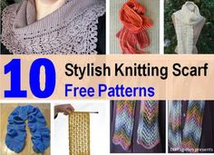 10 Stylish Free Knitting Scarf Patterns | DIY Tag