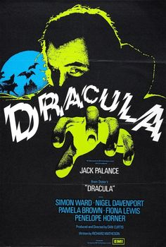 Directed by Dan Curtis. With Jack Palance, Simon Ward, Nigel Davenport, Pamela Brown. Dracula is searching for a woman who looks like his long dead wife. Horror Movie Posters, Film Posters, Horror Movies, Bram Stoker's Dracula, Count Dracula, Richard Matheson, Sarah Douglas, Pamela Brown, Jack Palance