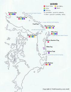 Abaco Boating Map, Guana Cay, Bahamas