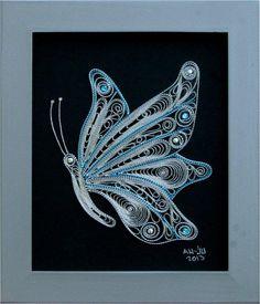 Филигран од срма-Пеперутка(мотив 5)34x27x1 - eKupi.mk - Вашата интернет продавница