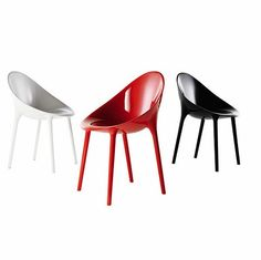 Kartell Mr Impossible chair, solid red - polycarbonate - at mydeco.com - Shop for your home from Europe's best boutiques. This product is delivered by Found Homestore