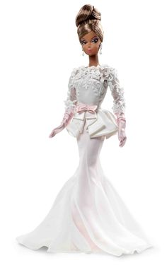 Barbie Fashion Model Collection Atelier #3  Barbie Fashion Model Collection is returning to its roots and celebrating high-fashion couture with the theme Atelier.  African American Silkstone Barbie dressed in delicate shades of pink and white.