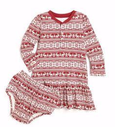 NWT Ralph Lauren Baby Girls Fair Isle Print Knit Dress & Bloomers Size 3M #RalphLauren #DressyEverydayHolidayPageant