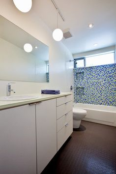 laurelhurst house modern bathroom seattle daniel sheehan photography bathroom lights mid century