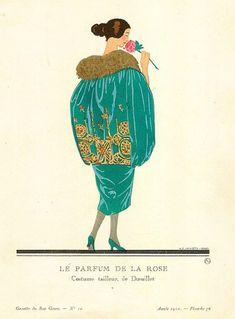 Andre Edouard Marty - Le parfum de la rose - Costume tailleur de Doeuillet - 1920