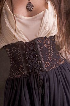 Victorian Inspired Lace Corset Belt