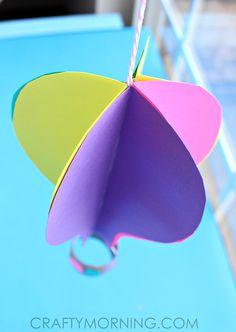 paper hot air balloon craft, children, elementary school, TP roll, #knutselen, kinderen, basisschool, luchtballon van papier en wc rol, toilepapier rol, tutorial