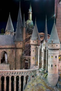 Extraordinarily detailed model of Hogwarts Castle