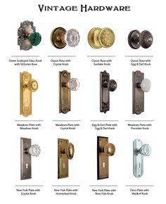 Here is some of our Vintage Hardware. http://rusticahardware.com/category/vintage-hardware/page/2/