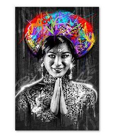 Tableau déco portrait Birmane Nanda Street Art - Tableau Deco Tableau Pop Art, Street Art, Portrait, Impressionism, Canvas, Men Portrait, Paintings, Portraits, Head Shots