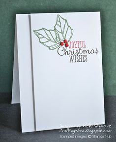 Stampin' Up ideas and supplies from Vicky at Crafting Clare's Paper Moments: Three minute Joyful Christmas - and a winner!