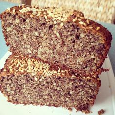 Keto Almond Bread, Flaxseed Bread, Keto Bread, Healthy Food Alternatives, Pan Dulce, Pan Bread, Gluten Free Recipes, Banana Bread, Food And Drink