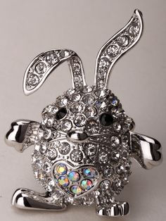 Bunny rabbit stretch ring //Price: $14.98 & FREE Shipping //     #fashionjewelry