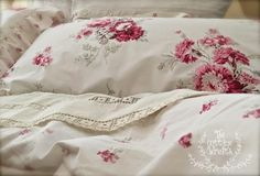 Fresh floral bedding for spring!  Making a private world you enjoy...The Cottage Wreath