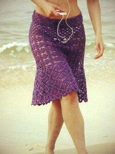 Crochet beach skirt                                                       …